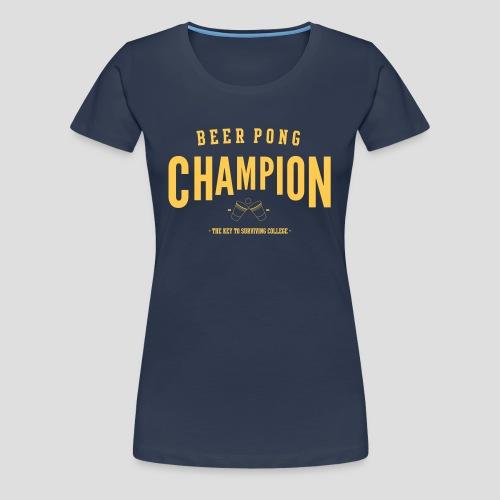 Beerpong Champion Shirt - Frauen Premium T-Shirt