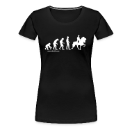 T-Shirts ~ Frauen Premium T-Shirt ~ Damen T-Shirt Evolution