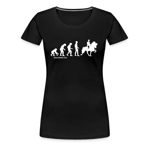 Damen T-Shirt Evolution - Frauen Premium T-Shirt