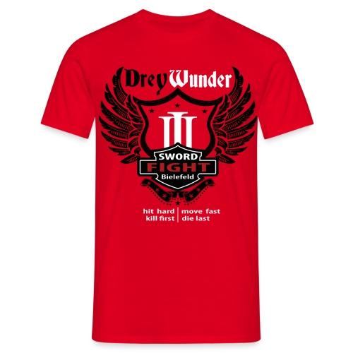 3W13 - T-Shirt Streetwear Edition Red - Männer T-Shirt