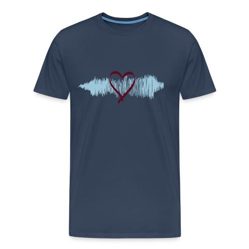 Herren Premium T-Shirt Heart Beat - Männer Premium T-Shirt