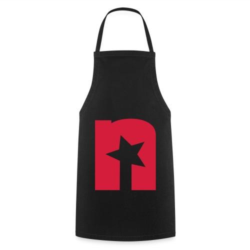 Kochschürze, schwarz - Logo rot - Kochschürze