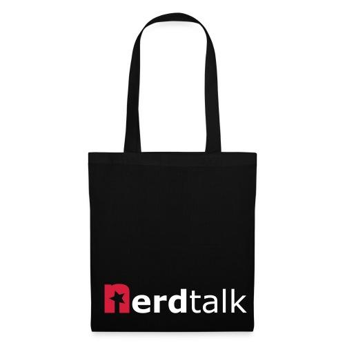 Stoffbeutel, schwarz - Schriftzug rot/weiß - Stoffbeutel