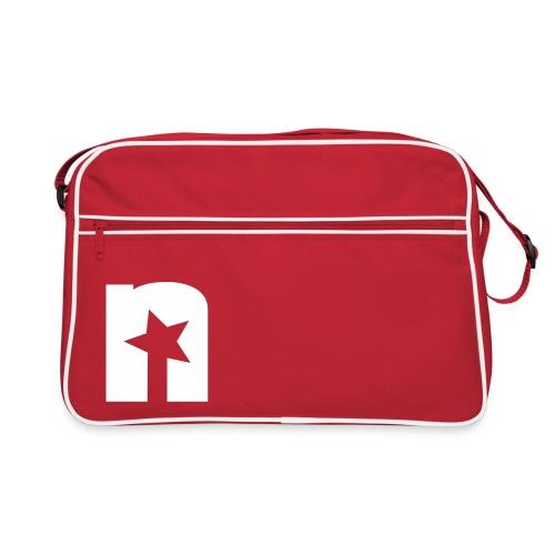 Retro Tasche, rot - Logo weiß - Retro Tasche