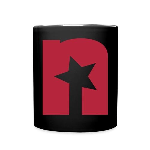 Tasse, schwarz - Logo rot - Tasse einfarbig