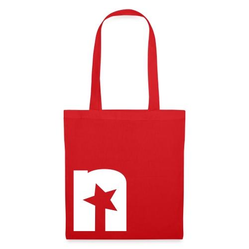 Sotffbeutel, rot - Logo weiß - Stoffbeutel