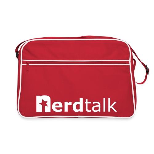 Retro Tasche, rot - Schriftzug weiß - Retro Tasche