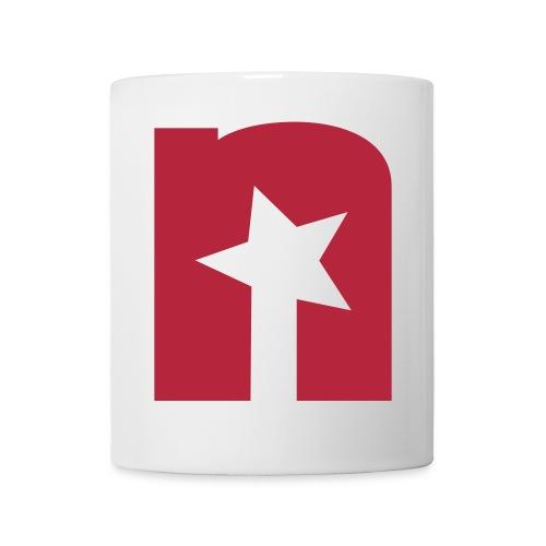 Tasse, weiß - Logo rot - Tasse
