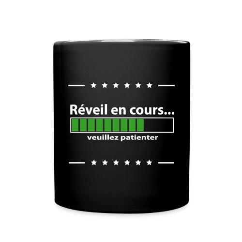Tasse noire - Réveil en cours - Mug uni
