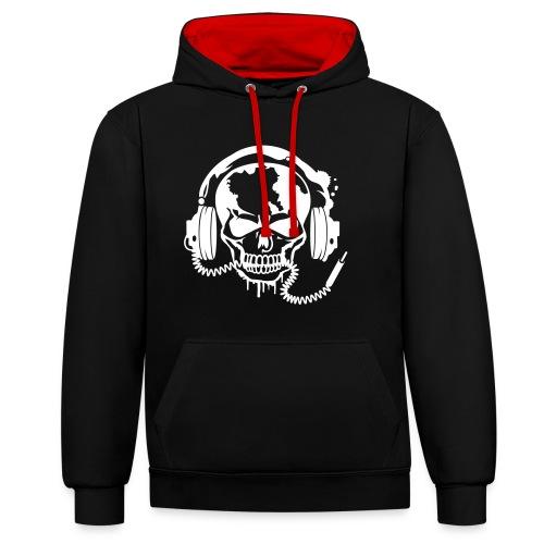 Music hoodie - Kontrast-Hoodie