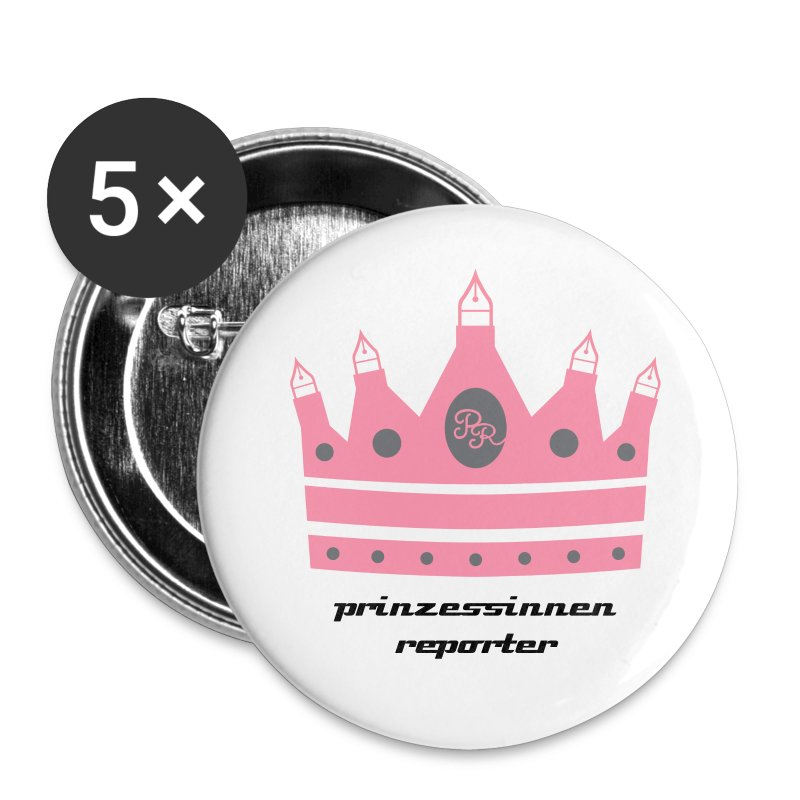 PR-Buttons, 5er-Pack - Buttons groß 56 mm