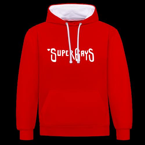 SUPERGAYS - Kontrast-Hoodie
