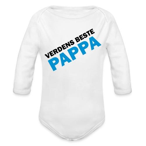 Verdens beste pappa - Økologisk langermet baby-body