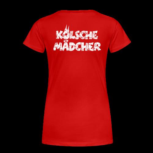 Kölsche Mädcher (Vintage Weiß) S-3XL Köln T-Shirt - Frauen Premium T-Shirt