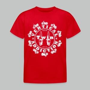 Kids' Vertical Twin Addiction - White logo with Bikes - Kids' T-Shirt
