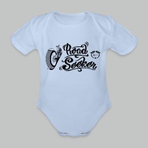 Kids' Road Seeker V Twin - Black logo - Organic Short-sleeved Baby Bodysuit