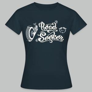 Road Seeker V Twin - White/Beige logo - Women's T-Shirt