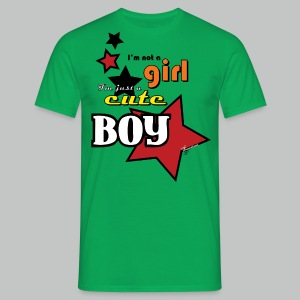 I'm not a girl I'm just a cute boy pop - Men's T-Shirt