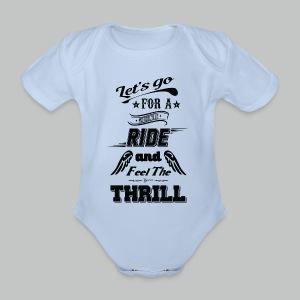 Let's go for a ride - Black logo - Organic Short-sleeved Baby Bodysuit