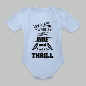 Let's go for a ride - Black logo - Organic Short-sleeved Baby Bodysuit
