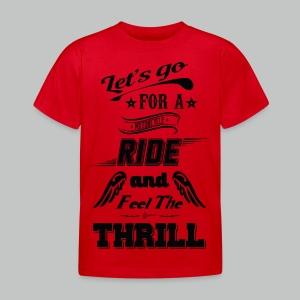 Let's go for a ride - Black logo - Kids' T-Shirt
