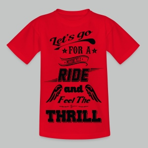 Let's go for a ride - Black logo - Kids' T-Shirt