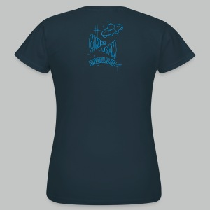 Let's go for a ride (Front) + Coming From Angeland UFO (Back) - Light Blue logo - Women's T-Shirt