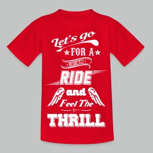 Let's go for a ride - White logo - Kids' T-Shirt