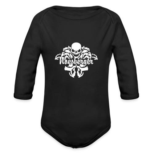 Noesberger Skull Baby Body Longarm - Baby Bio-Langarm-Body