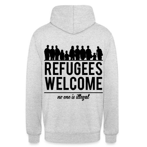 Refugees Welcome Hoddie 5 Rückendruck - Unisex Hoodie