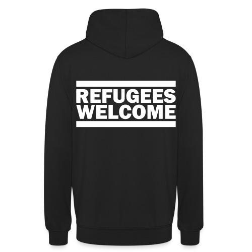 Refugees Welcome Hoddie 6 Rückendruck - Unisex Hoodie