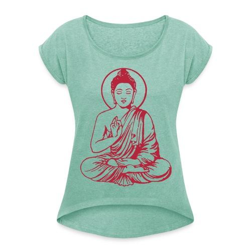 Yoga-Shirt - Frauen T-Shirt mit gerollten Ärmeln