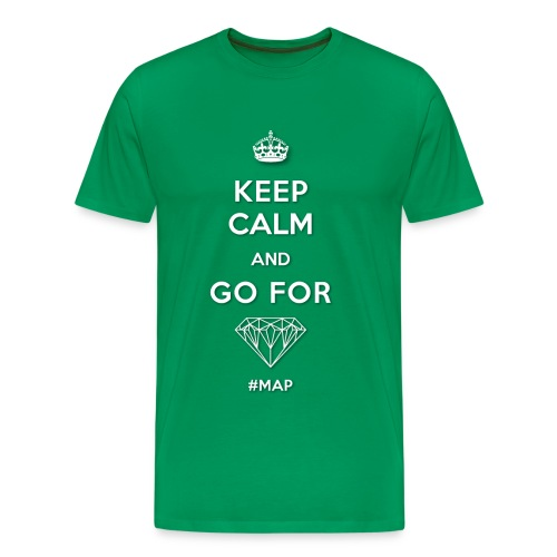 T-SHIRT (HERREN) | KEEP CALM AND GO FOR DIAMOND (SYMBOL) - Männer Premium T-Shirt