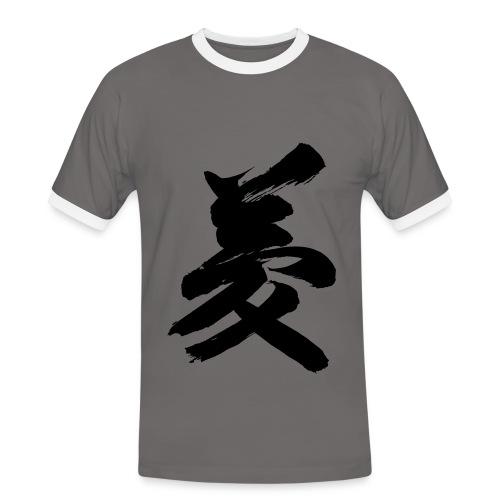 kanji yume contrast t-shirt - T-shirt contrasté Homme