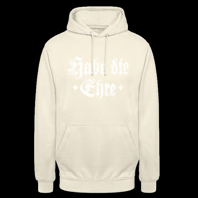 Habe die Ehre (Vintage/Weiß) Hoodie