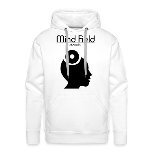 Mind Field Records Mens White Logo Hoodie (Large Text Design) - Men's Premium Hoodie