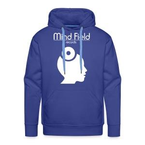 Mind Field Records Blue White Mens Hoodie - Men's Premium Hoodie
