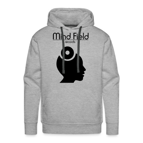 Mind Field Records Grey Black Mens Hoodie - Men's Premium Hoodie