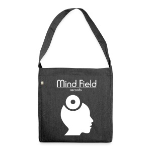 Mind Field Records Quality Shoulder Bag Grey White - Shoulder Bag made from recycled material