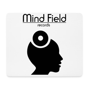Mind Field Records Mouse Pad White Black - Mouse Pad (horizontal)