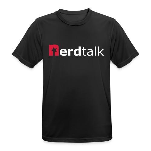 Männer T-Shirt, atmungsaktiv - Schriftzug rot/weiß - Männer T-Shirt atmungsaktiv