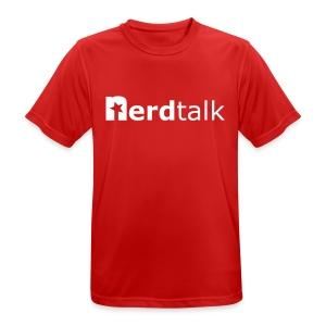 Männer T-Shirt, atmungsaktiv - Schriftzug weiß - Männer T-Shirt atmungsaktiv