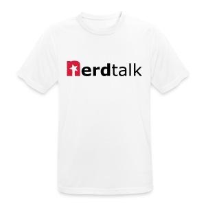 Männer T-Shirt, atmungsaktiv - Schriftzug rot/schwarz - Männer T-Shirt atmungsaktiv
