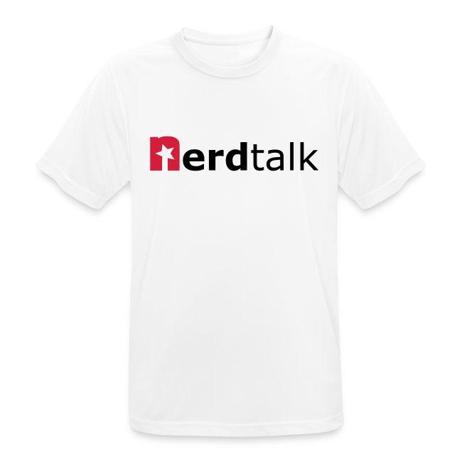 Männer T-Shirt, atmungsaktiv - Schriftzug rot/schwarz