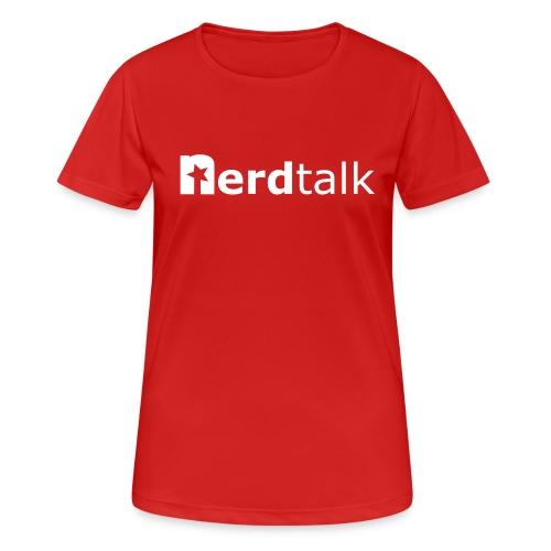 Frauen T-Shirt, atmungsaktiv - Schriftzug weiß - Frauen T-Shirt atmungsaktiv