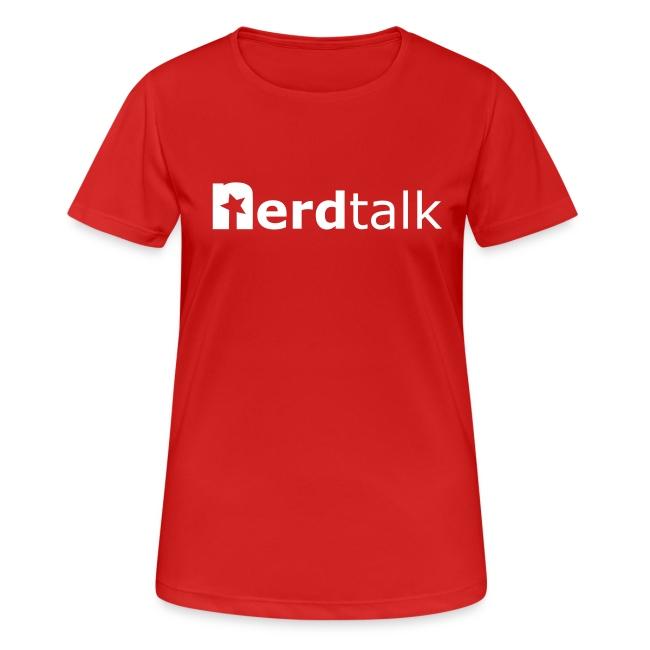 Frauen T-Shirt, atmungsaktiv - Schriftzug weiß