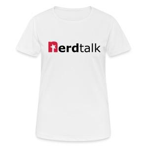 Frauen T-Shirt, atmungsaktiv - Schriftzug rot/schwarz - Frauen T-Shirt atmungsaktiv
