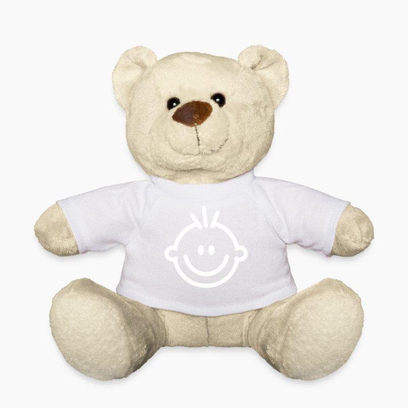 lustiges lachendes comic gesicht mit strubbelhaar teddyb r spreadshirt. Black Bedroom Furniture Sets. Home Design Ideas