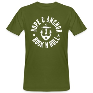 Hope & Anchor - Rock´n´Roll Shirt oliv - Männer Bio-T-Shirt