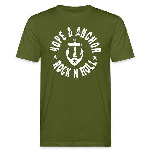 Hope & Anchor - Rock´n´Roll Shirt oliv - Männer Bio-T-Shirt